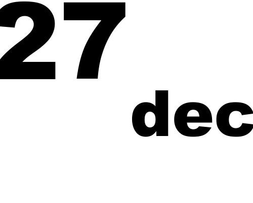 27 dicembre 2018